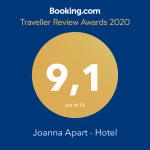 joanna hotel patmos guest award